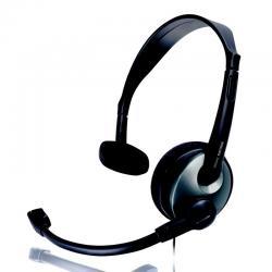 Słuchawki PHILIPS z mikrofonem SHM2000 (czarno srebrne)