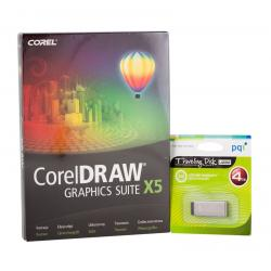 COREL DRAW Graphics Suite X5 Czech/Polish + USB 4GB