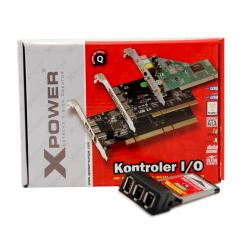 KONTR. XPOWER EXPRESSCARD USB 2,0 + FIREWIRE 1394