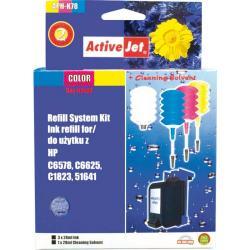 ActiveJet APH-K78 kolorowy, system uzupełnień do HP 3x28ml + 1x28 płyn do czyszczenia głowicy