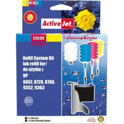 ActiveJet APH-K57 kolorowy, system uzupełnień do HP 3x28ml + 1x28 płyn do czyszczenia głowicy