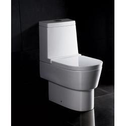 WC stojące WA332 z deską wolnoopadającą i  spłuczką Muszle