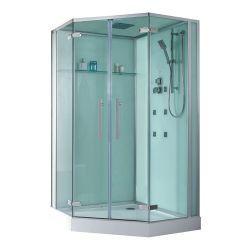 Pięciokątna kabina prysznicowa EAGO D993 z brodzikiem białym 120x120 Dom i Ogród