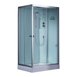 Prostokatna kabina prysznicowa EAGO 1000-4IH 100x80 Prawa Dom i Ogród