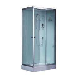 Kwadratowa kabina prysznicowa EAGO 800-8IH 80x80 biała  Dom i Ogród