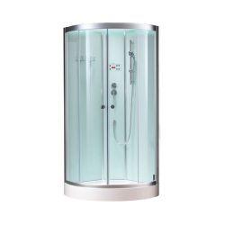 Półokragła kabina prysznicowa EAGO 900-26GH 90x90 biała
