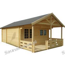 Domek ogrodowy z tarasem KOMFORT 440x745
