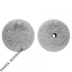 Ozdobna kulka diamentowa 4 mm srebro - 2 szt.