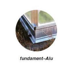 Aluminiowy fundament szklarni - gartentec typ F3