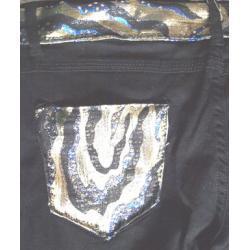 Spodnie rurki błysk