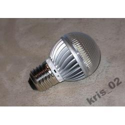 ŻARÓWKA LED E27 230V 3x1W 255 lm ZIMNA BIEL