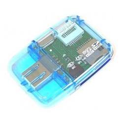 Czytnik USB 2.0 adapter pendriver MMC SD microSD miniSD MS ProDuo - SDHC...