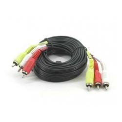 Kabel 3x chinch   YUV component 5m...