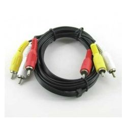 Kabel 3x chinch   YUV component 3m...