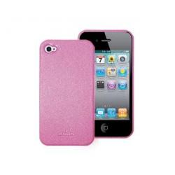 etui do Apple iPhone 4  różowe pink SKÓRA