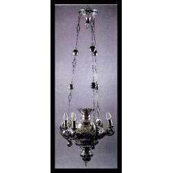 Wieczna lampa z synagogi ,srebro,  judaikum XVII w