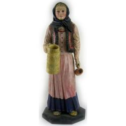 Okazała figura drewniana, polichromia lata 20te