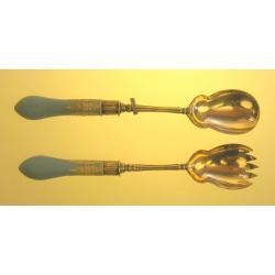 Wedwood  srebrne łyżki do sałaty XIX w Anglia