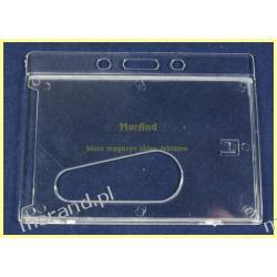 identyfikator osobisty twardy holder krystaliczny na karte magnetyczna