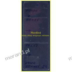 identyfikator zawieszka folia 3 kieszenie 50x55 50x55 50x20 24 Biuro i Reklama