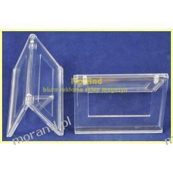 koziolek konferencyjny dwustr akryl stojacy bezbarw na biurko 031 Akcesoria biurowe