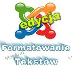 Formatowanie tekstu i dodawanie użytecznych funkcji w artykułach VJ10 Biuro i Reklama