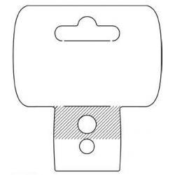 tabliczka glowka uchwyt wiszacy do stripow tasm promo etykiet logo 152