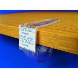 uchwyt uniwers slimak plastik do krawedzi polek 3-40mm I22