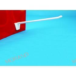hak ekspozycyjny pojedynczy ostry plastik karbowany 150mm O1150
