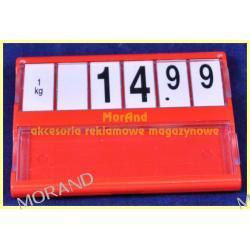 ramki kasetki cenowe opisowe z cyframi 74x55 M