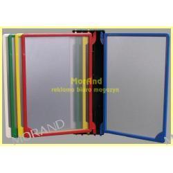 scienne ramki kolorowe plastik plakat cen opisowe 5 x A4 z uchwytem 984