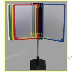 stojace ramki kolorowe plastik plakat cen opisowe 5xA4 ze statywem 994