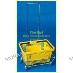 wozek metal z raczka do plastik koszyk sklep market z raczka 057