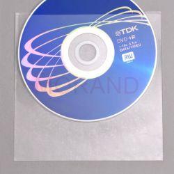 samoprzylepne kieszenie na cd dvd bez klapki 100szt