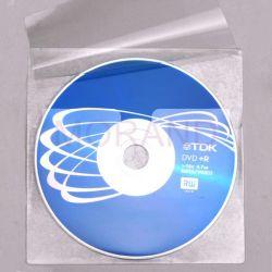 samoprzylepne kieszenie na cd dvd z klapka 100szt