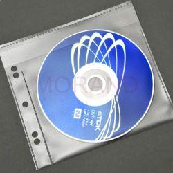 kieszenie wpinane na cd dvd z klapka 100szt