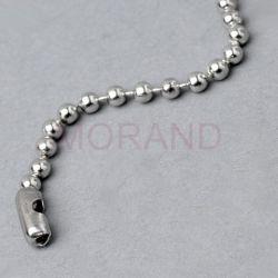 lancuszek kulkowy perlowy fi 3,2mm 200mm z lacznikiem S 100szt