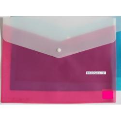 teczka kopertowa, koperta foliowa a4 na zatrzask dwukolorowa