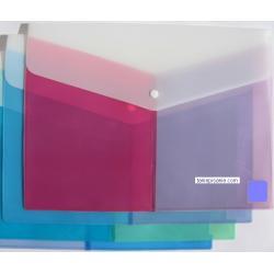 teczka kopertowa, koperta foliowa a4 na zatrzask trojkolorowa