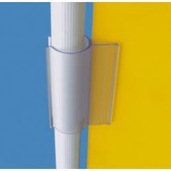 reklamowy uchwyt plastikowy na prety, rury 25mm 10szt