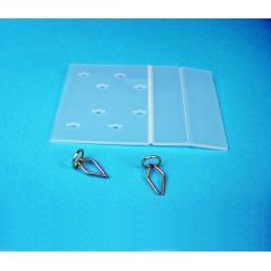 plytka uniwersal plastik katownik na polke z otworami 100szt