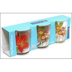 3 szklanki Pop Flowers Luminarc