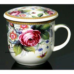 Kubek do ziół, herbaty z sitkiem HS -220.3 Filiżanki
