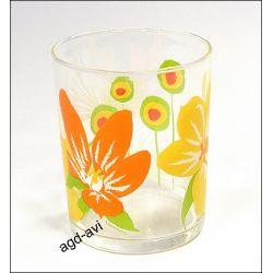 3 szklanki Pop Flowers orange Luminarc