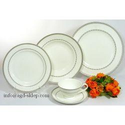 Serwis obiadowy 30cz BONE CHINA ROYAL PLATYNA