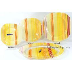 Serwis obiadowy Luminarc Orange Stripes Carine kwadrat