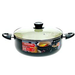 Zdrowe gotowanie GARNEK CERAMICZNY 24cm indukcja