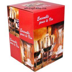 Karafka dekanter kieliszki do wina 5cz