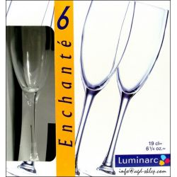 6-Kieliszków do szampana Enchante Luminarc Kubki