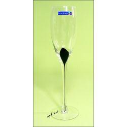 Luminarc kieliszki do szampana Drip Noir 22cl